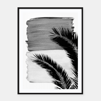 Miniatur Palms Abstract - Naturelle #2 #minimal #wall #decor #art Plakat mit rahmen, Live Heroes