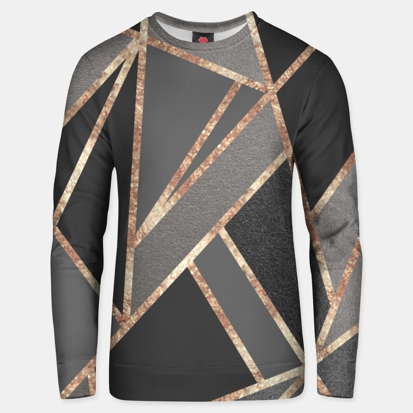 Zdjęcie Classic Silver Gray Charcoal Rose Gold Geo #1 #geometric #decor #art  Unisex sweatshirt - Live Heroes