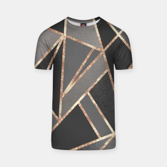 Classic Silver Gray Charcoal Rose Gold Geo #1 #geometric #decor #art  T-Shirt obraz miniatury
