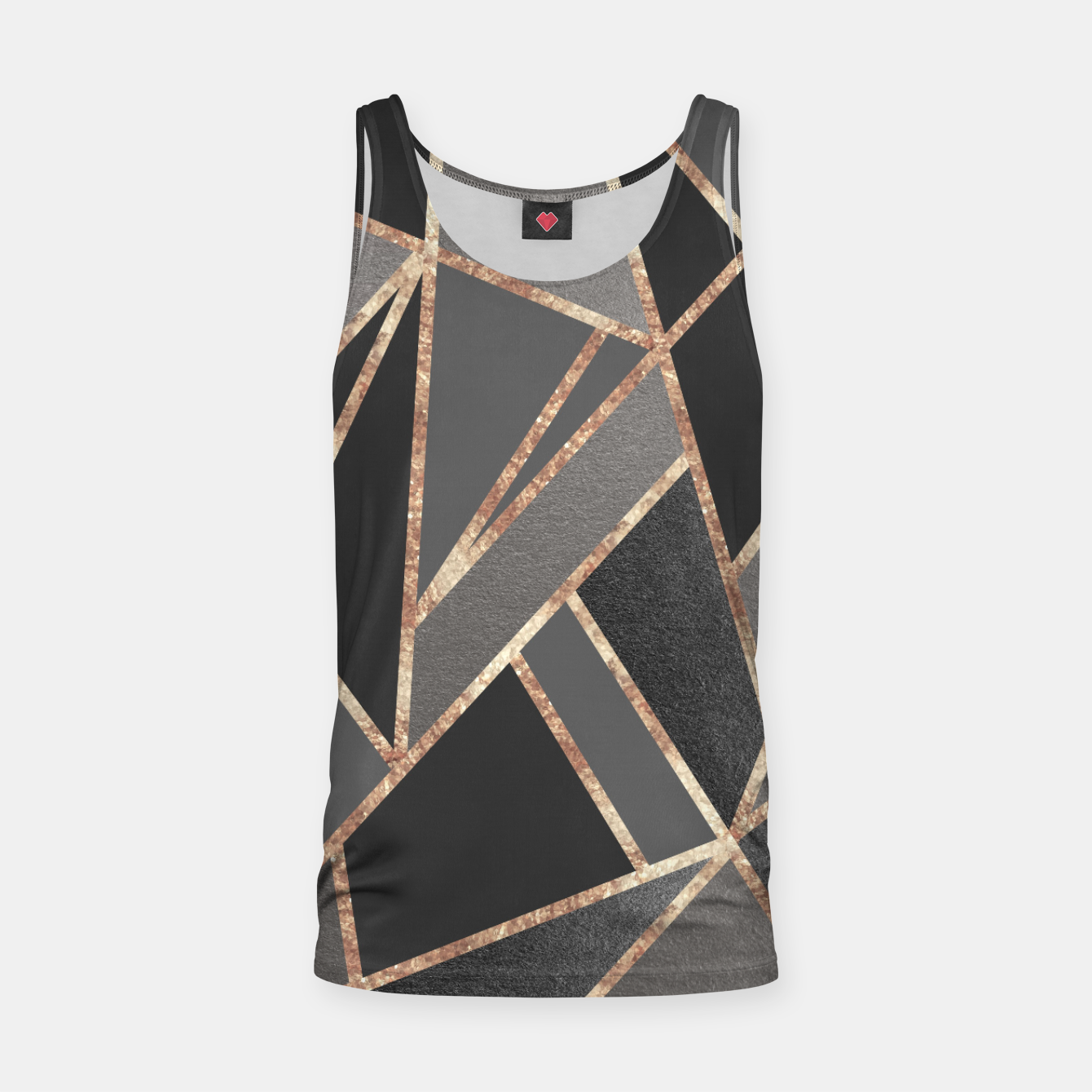 Image of Classic Silver Gray Charcoal Rose Gold Geo #1 #geometric #decor #art  Muskelshirt  - Live Heroes