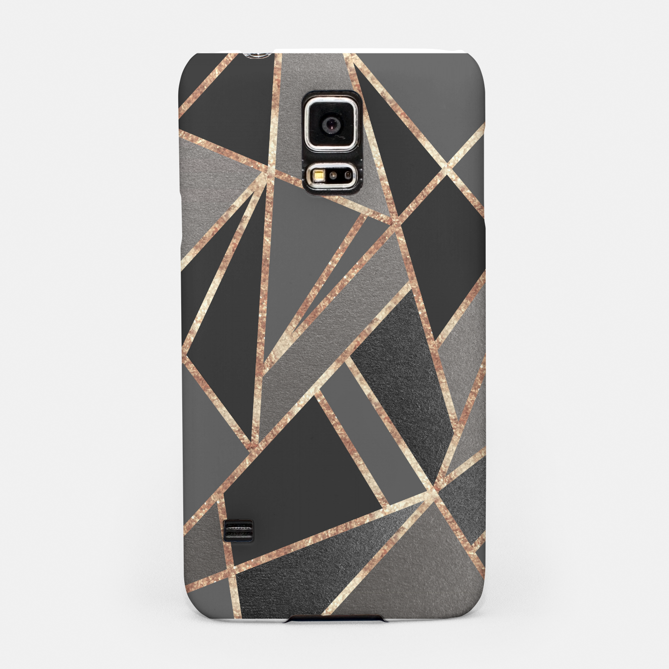 Zdjęcie Classic Silver Gray Charcoal Rose Gold Geo #1 #geometric #decor #art  Handyhülle für Samsung - Live Heroes