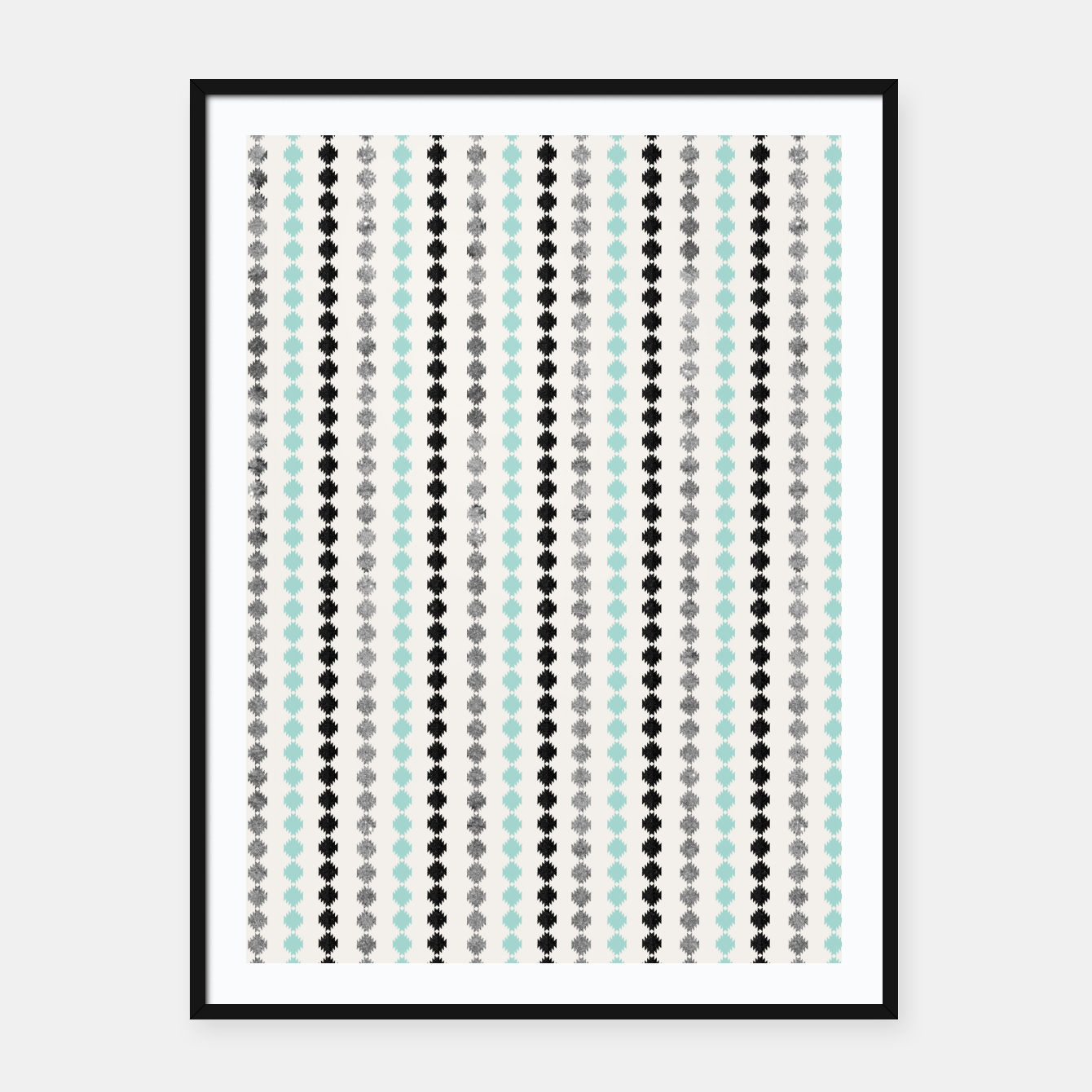 Image of Tribal Boho Pattern Minimal #1 #aztec #decor #art Plakat mit rahmen - Live Heroes