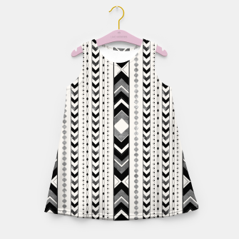 Tribal Arrow Boho Pattern #5 #aztec #decor #art Mädchen-Sommerkleid miniature