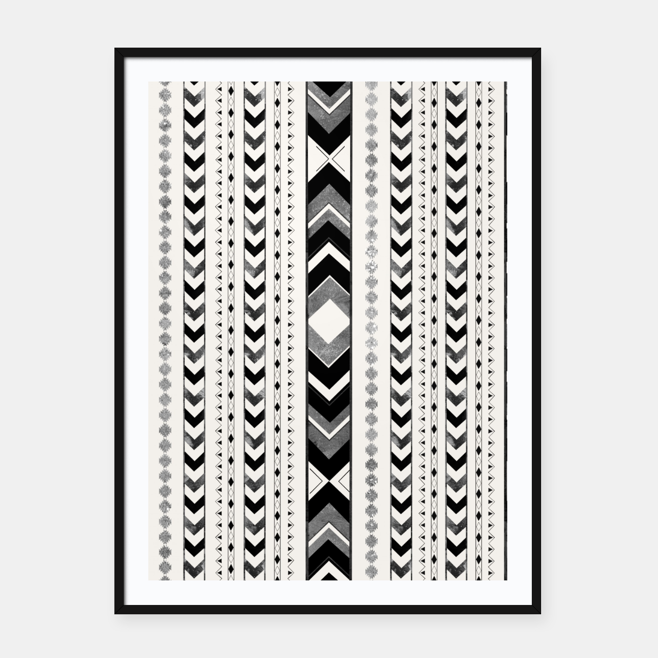 Image of Tribal Arrow Boho Pattern #5 #aztec #decor #art Plakat mit rahmen - Live Heroes