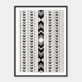 Tribal Arrow Boho Pattern #5 #aztec #decor #art Plakat mit rahmen miniature