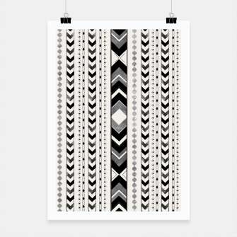 Tribal Arrow Boho Pattern #5 #aztec #decor #art Plakat miniature