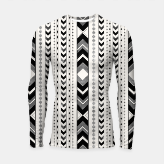 Tribal Arrow Boho Pattern #5 #aztec #decor #art Longsleeve rashguard miniature