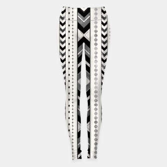 Tribal Arrow Boho Pattern #5 #aztec #decor #art Leggings miniature