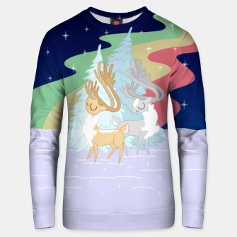 Miniature de image de Reindeers in the Northern Lights Unisex sweater, Live Heroes