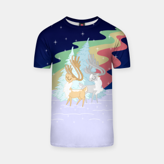 Miniature de image de Reindeers in the Northern Lights T-shirt, Live Heroes