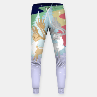Thumbnail image of Reindeers in the Northern Lights Sweatpants, Live Heroes