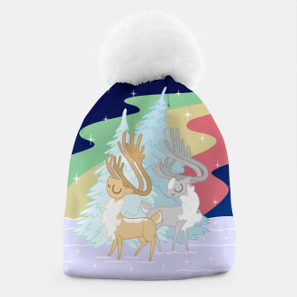 Miniature de image de Reindeers in the Northern Lights Beanie, Live Heroes