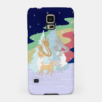 Miniature de image de Reindeers in the Northern Lights Samsung Case, Live Heroes