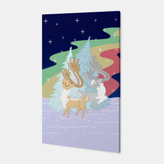 Miniature de image de Reindeers in the Northern Lights Canvas, Live Heroes