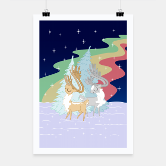 Miniature de image de Reindeers in the Northern Lights Poster, Live Heroes