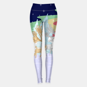 Miniature de image de Reindeers in the Northern Lights Leggings, Live Heroes
