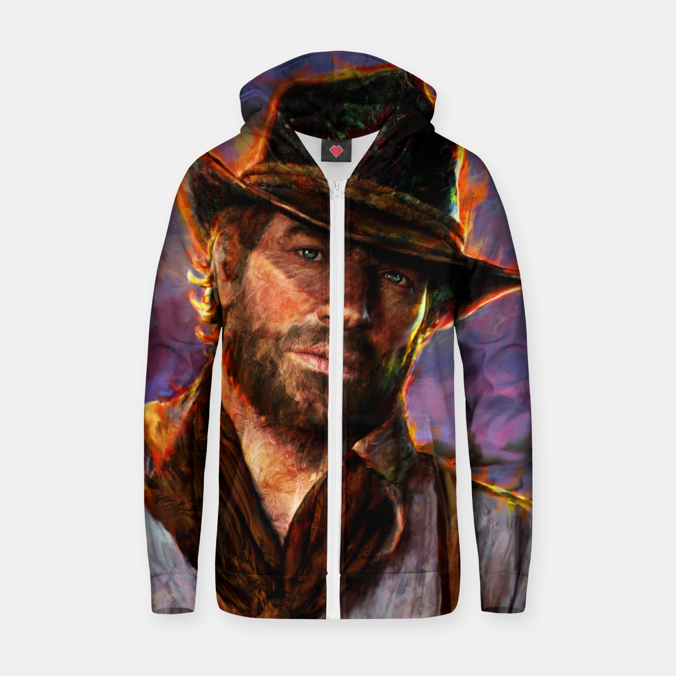 Zdjęcie red dead redemption Zip up hoodie - Live Heroes