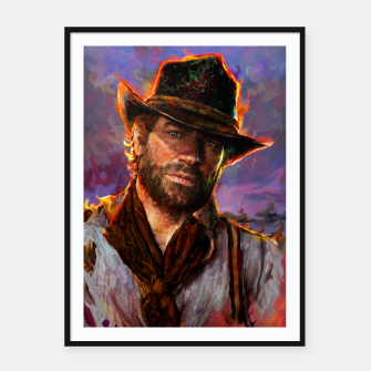 Thumbnail image of red dead redemption Framed poster, Live Heroes