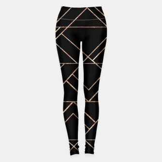 Miniaturka Art Deco Geo Glam #2 #geometric #decor #art Leggings, Live Heroes