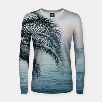 Miniaturka Palm & Ocean Dream #2 #tropical #pastel #wall #decor #art Frauen sweatshirt, Live Heroes