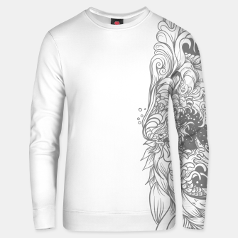 Miniatur Sleave White Unisex sweater, Live Heroes