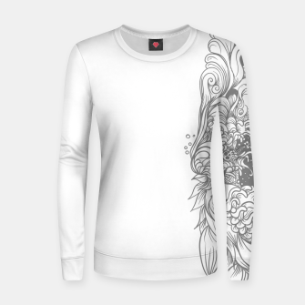 Miniatur Sleave White Women sweater, Live Heroes