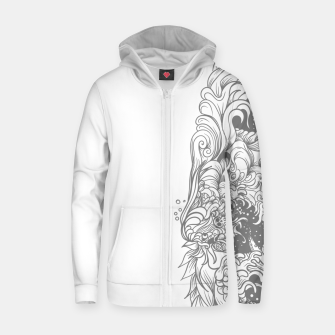 Thumbnail image of Sleave White Zip up hoodie, Live Heroes