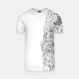 Miniatur Sleave White T-shirt, Live Heroes