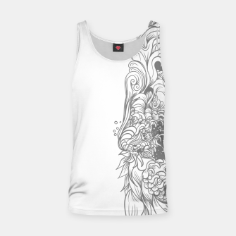 Miniatur Sleave White Tank Top, Live Heroes