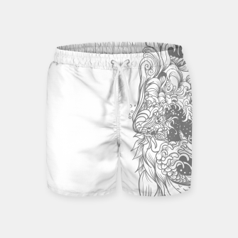 Thumbnail image of Sleave White Swim Shorts, Live Heroes