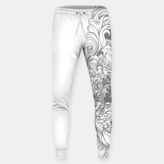 Miniatur Sleave White Sweatpants, Live Heroes