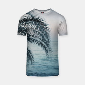 Miniaturka Palm & Ocean Dream #2 #tropical #pastel #wall #decor #art T-Shirt, Live Heroes