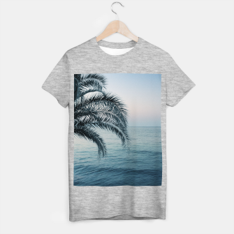 Miniaturka Palm & Ocean Dream #2 #tropical #pastel #wall #decor #art T-Shirt regulär, Live Heroes