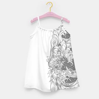 Miniatur Sleave White Girl's dress, Live Heroes