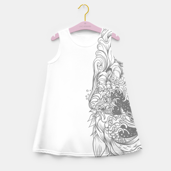 Miniatur Sleave White Girl's summer dress, Live Heroes