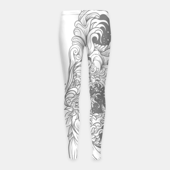 Sleave White Girl's leggings Bild der Miniatur