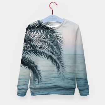 Miniaturka Palm & Ocean Dream #2 #tropical #pastel #wall #decor #art Kindersweatshirt, Live Heroes