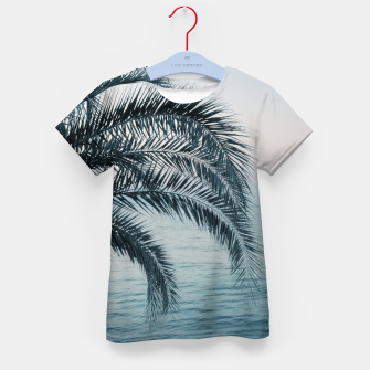 Miniaturka Palm & Ocean Dream #2 #tropical #pastel #wall #decor #art T-Shirt für kinder, Live Heroes