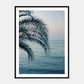 Miniaturka Palm & Ocean Dream #2 #tropical #pastel #wall #decor #art Plakat mit rahmen, Live Heroes