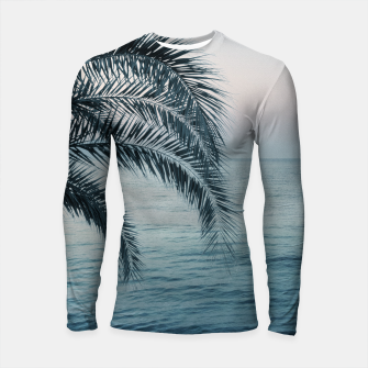 Miniaturka Palm & Ocean Dream #2 #tropical #pastel #wall #decor #art Longsleeve rashguard, Live Heroes