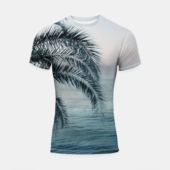 Miniaturka Palm & Ocean Dream #2 #tropical #pastel #wall #decor #art Shortsleeve rashguard, Live Heroes