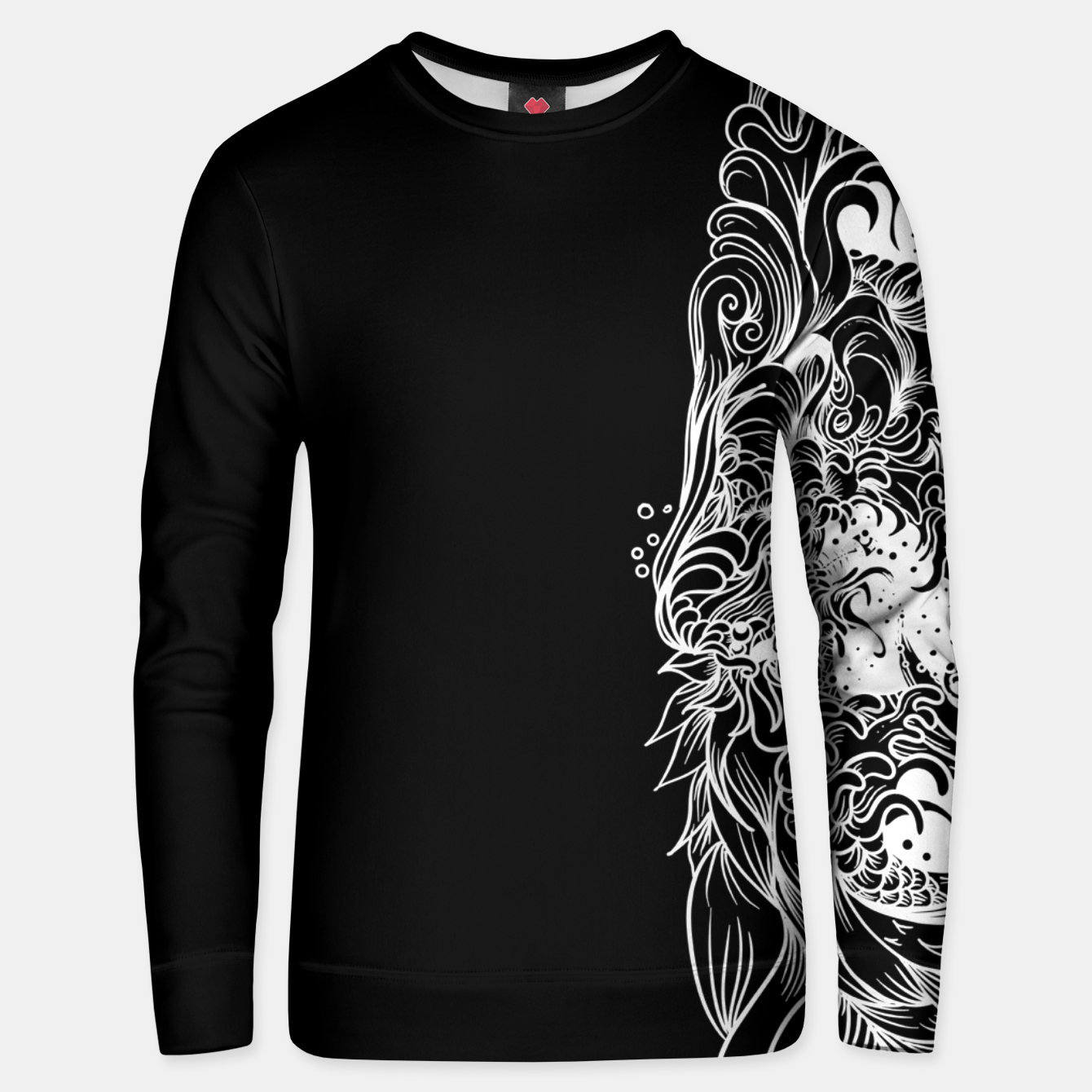 Foto Sleeve Dark Unisex sweater - Live Heroes