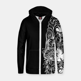 Thumbnail image of Sleeve Dark Zip up hoodie, Live Heroes