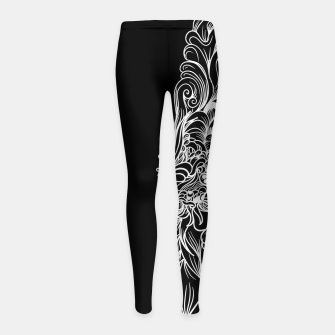 Miniatur Sleeve Dark Girl's leggings, Live Heroes