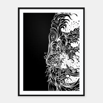 Thumbnail image of Sleeve Dark Framed poster, Live Heroes