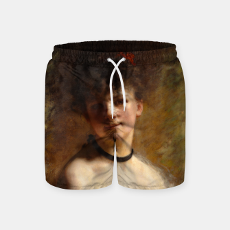 Thumbnail image of Young Woman with Flower Basket by Charles Joshua Chaplin Swim Shorts, Live Heroes