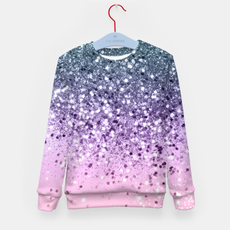 Thumbnail image of Unicorn Princess Glitter #3 (Photography) #pastel #decor #art  Kindersweatshirt, Live Heroes