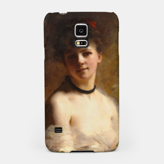 Thumbnail image of Young Woman with Flower Basket by Charles Joshua Chaplin Samsung Case, Live Heroes