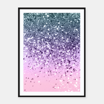 Thumbnail image of Unicorn Princess Glitter #3 (Photography) #pastel #decor #art  Plakat mit rahmen, Live Heroes