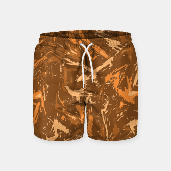 Miniaturka Camo in Brown Swim Shorts, Live Heroes